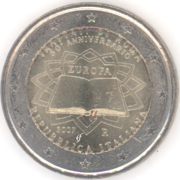 2 Euro Gedenkmünze Italien 2007 Römische Verträge Eurofischer