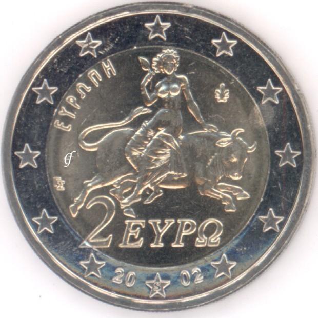 griechenland 2 euro 2002 fremdpr gung eurofischer. Black Bedroom Furniture Sets. Home Design Ideas