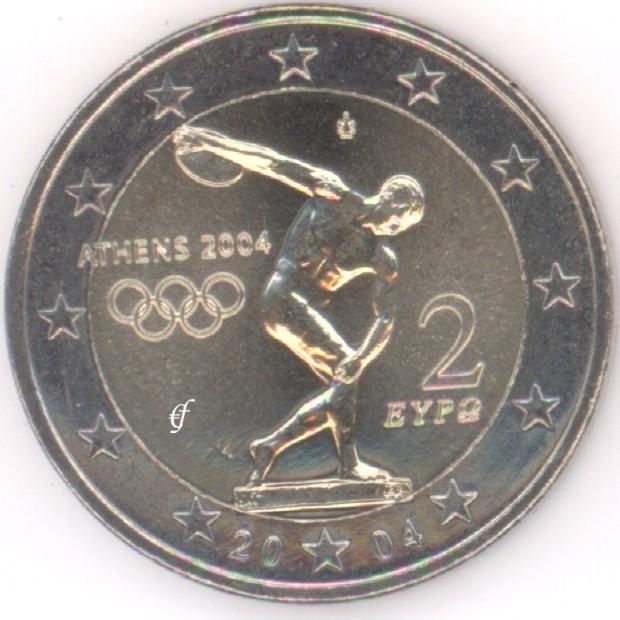 rolle 2 euro gedenkm nzen griechenland 2004 olympia eurofischer. Black Bedroom Furniture Sets. Home Design Ideas