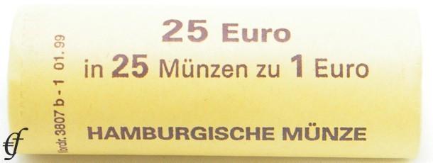 deutschland rolle 1 euro 2002 j hamburg eurofischer. Black Bedroom Furniture Sets. Home Design Ideas