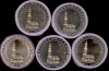 Germany all 5 rolls 2 Euro CC 2008 Hamburger Michel