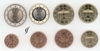 Germany all 8 coins G Karlsruhe 2002