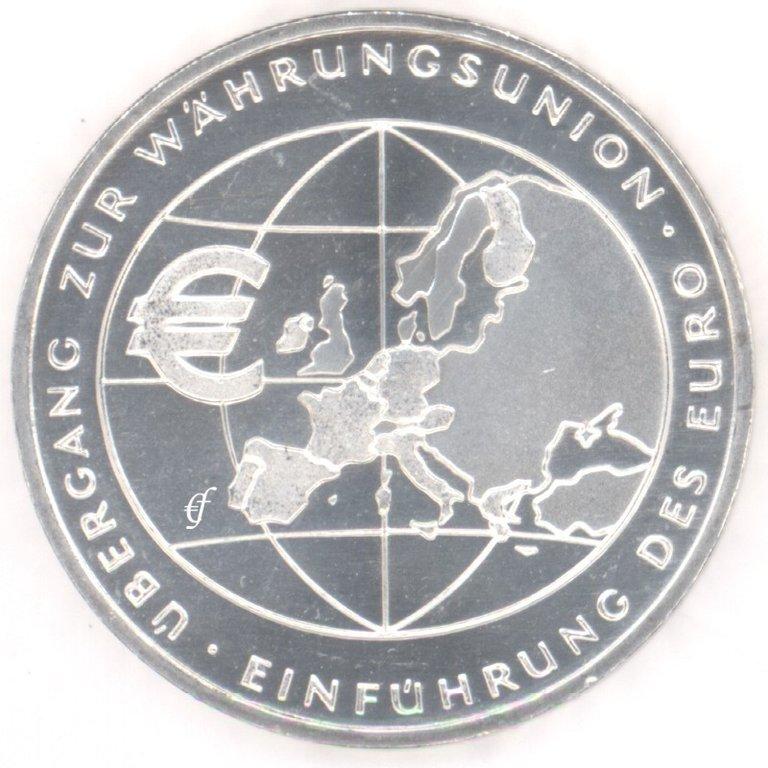 Deutschland 10 Euro 2002 Bfr Währungsunion Eurofischer