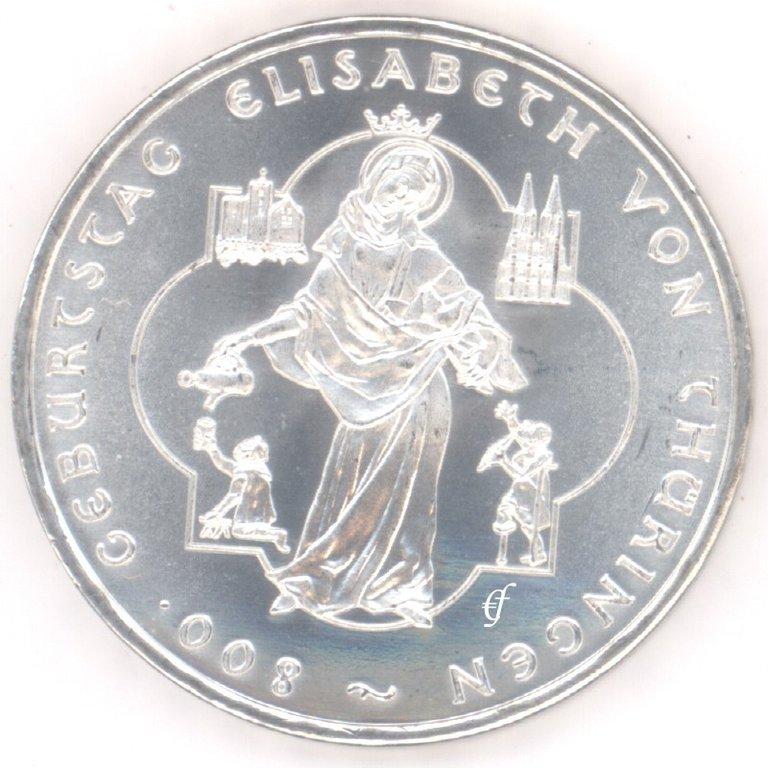 Deutschland 10 Euro 2007 Bfr Elisabeth Von Thüringen Eurofischer