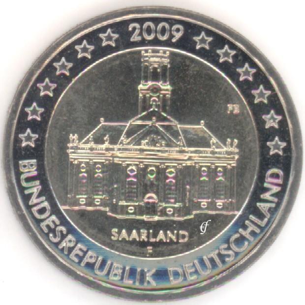 rolle 2 euro gedenkm nzen deutschland 2009 f ludwigskirche. Black Bedroom Furniture Sets. Home Design Ideas