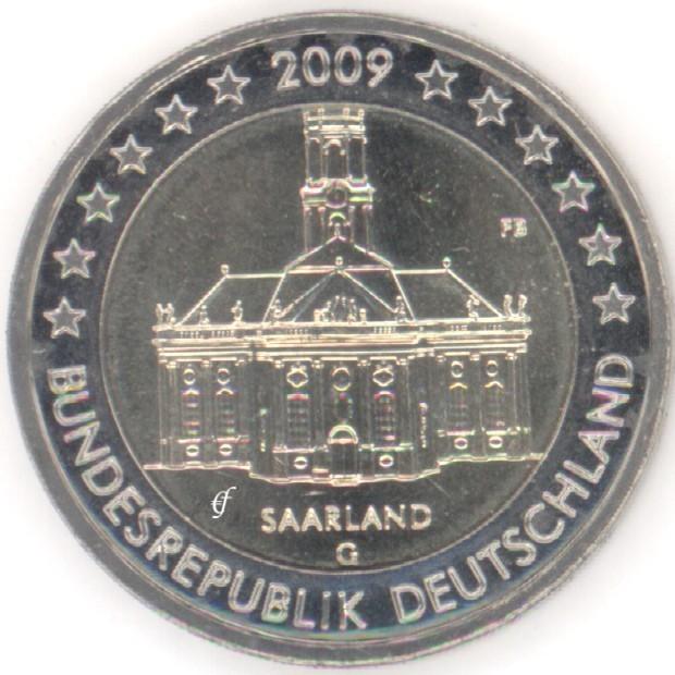 rolle 2 euro gedenkm nzen deutschland 2009 g ludwigskirche. Black Bedroom Furniture Sets. Home Design Ideas