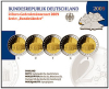 2 Euro CC-Set Germany 2009 Ludwigskirche Proof
