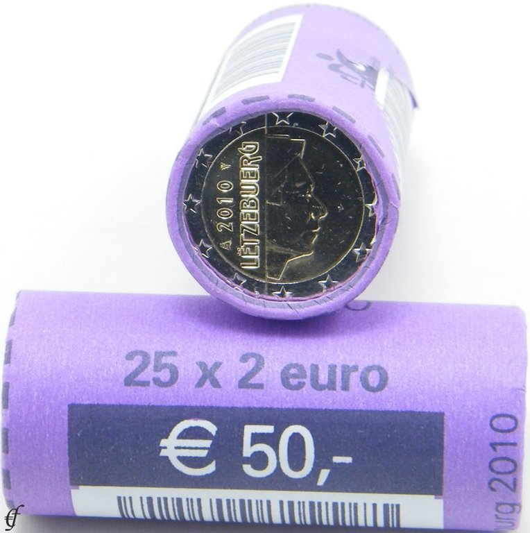 luxemburg rolle 2 euro 2010 eurofischer. Black Bedroom Furniture Sets. Home Design Ideas