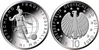 All 5 Germany 10 Euro 2011 Proof Woman´s football World Cup ADFGJ