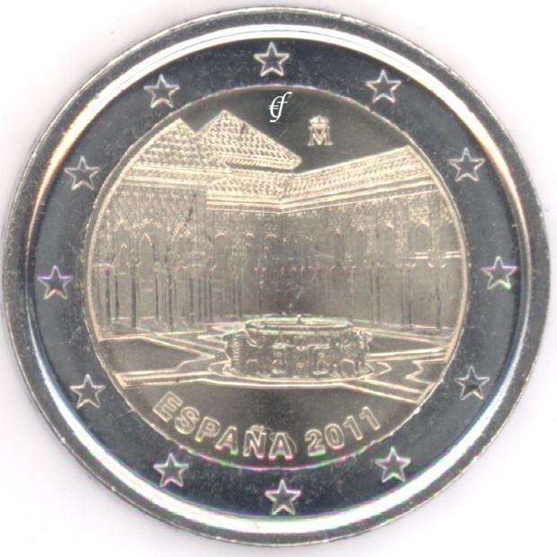 rolle 2 euro gedenkm nzen spanien 2011 alhambra eurofischer. Black Bedroom Furniture Sets. Home Design Ideas