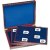 Wooden Coin Presentation Casewith 3 trays, each for 20 Coin Holders 50x50mm;