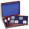 Wooden Coin Presentation Casewith 3 trays, for 24 US-SLABS