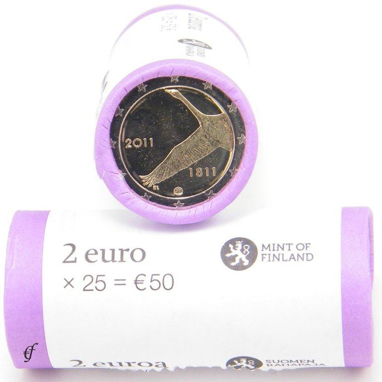 rolle 2 euro gedenkm nzen finnland 2011 finnische. Black Bedroom Furniture Sets. Home Design Ideas