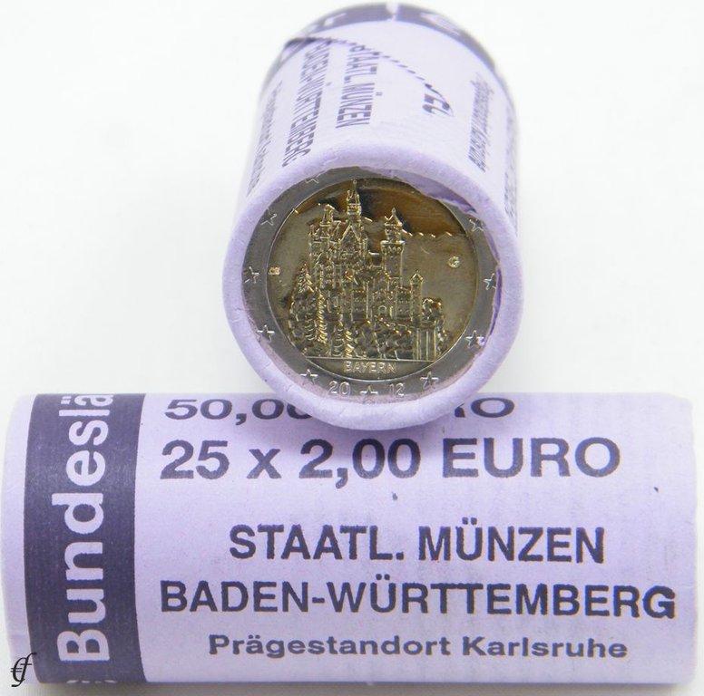 Rolle 2 Euro Deutschland 2012 G Bayern Eurofischer