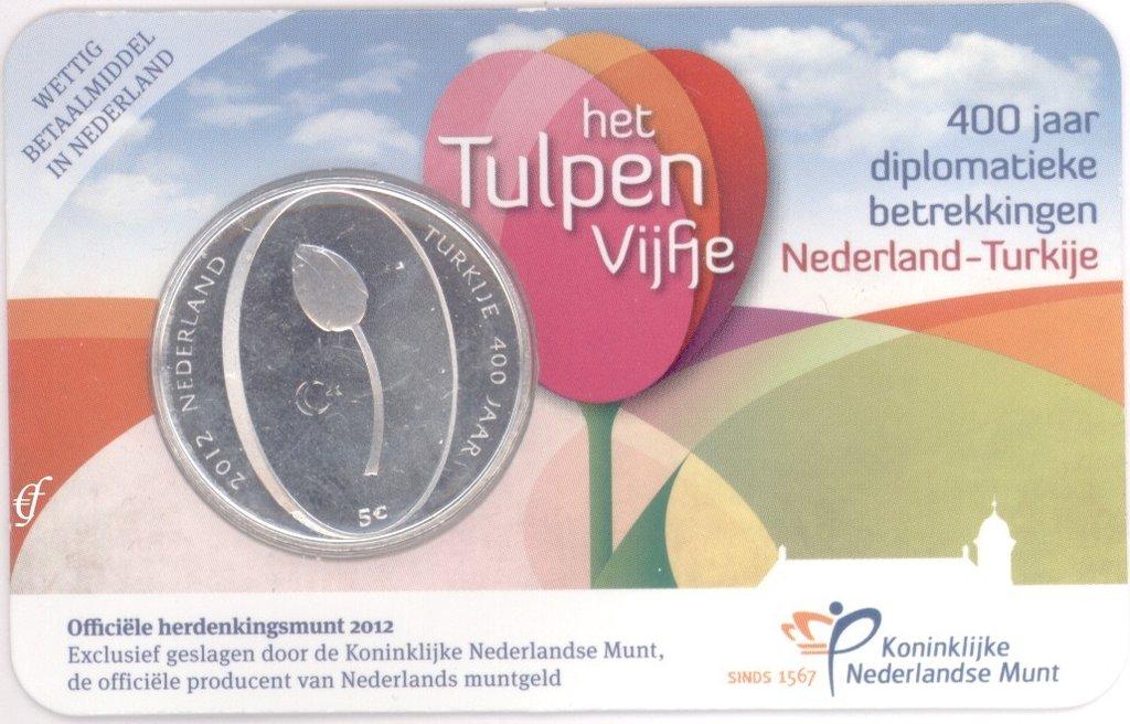 niederlande 5 euro 2012 tulpe in coincard eurofischer. Black Bedroom Furniture Sets. Home Design Ideas
