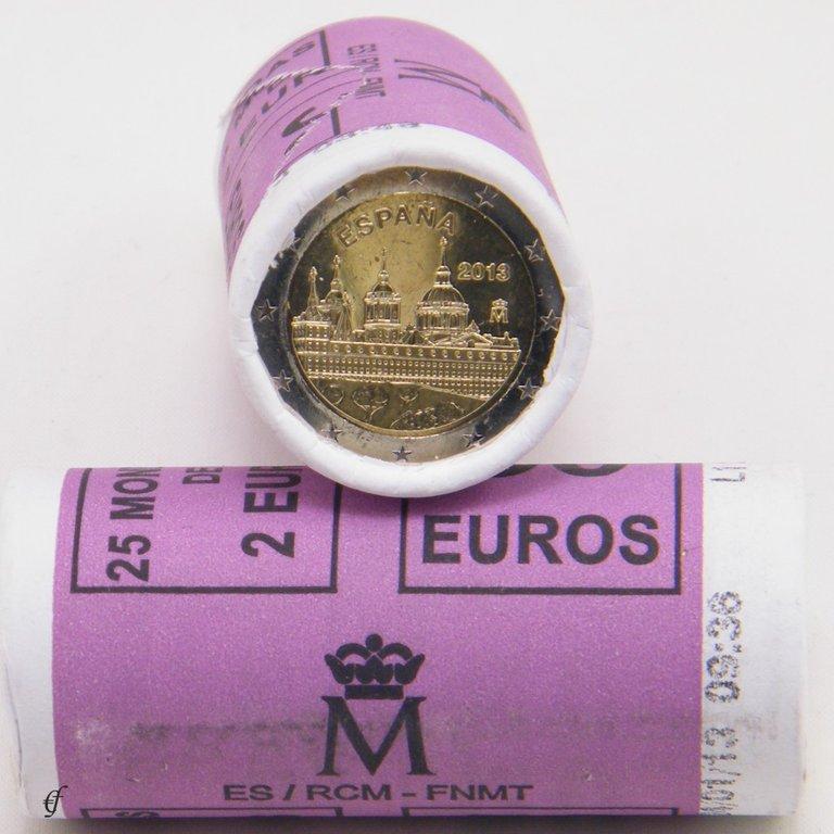 rolle 2 euro gedenkm nzen spanien 2013 escorial eurofischer. Black Bedroom Furniture Sets. Home Design Ideas