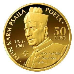 Malta 50 Euro 2013 Dun Karm Psaila Proof Gold Eurofischer