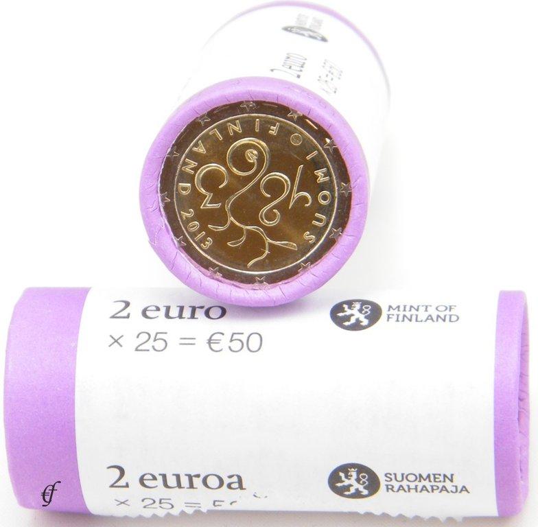 rolle 2 euro gedenkm nzen finnland 2013 parlament ebay. Black Bedroom Furniture Sets. Home Design Ideas