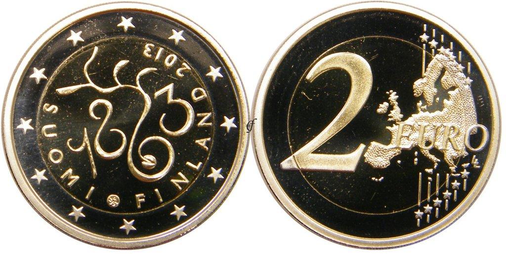 2 euro gedenkm nze finnland 2013 parlament pp eurofischer. Black Bedroom Furniture Sets. Home Design Ideas