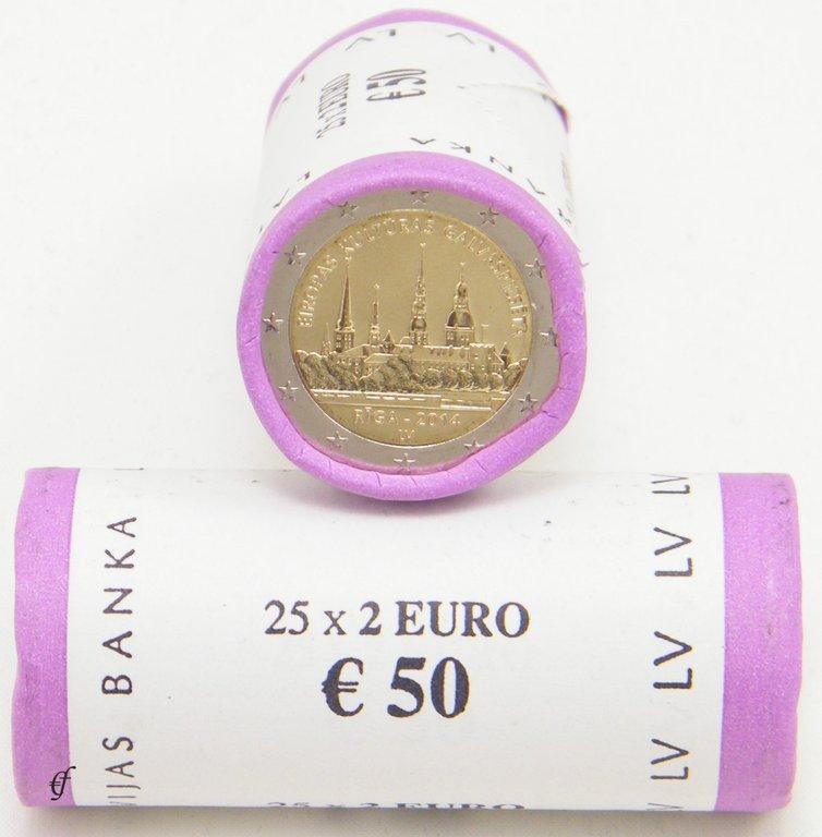 rolle 2 euro gedenkm nzen lettland 2014 riga eurofischer. Black Bedroom Furniture Sets. Home Design Ideas