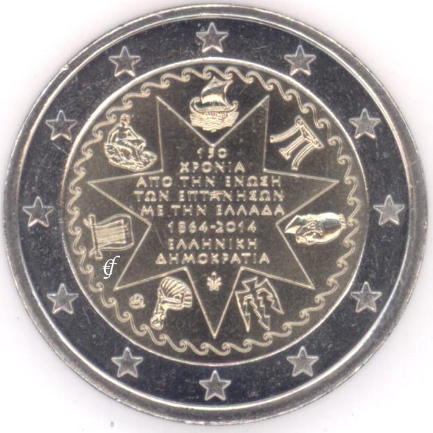 rolle 2 euro gedenkm nzen griechenland 2014 ionische inseln eurofischer. Black Bedroom Furniture Sets. Home Design Ideas