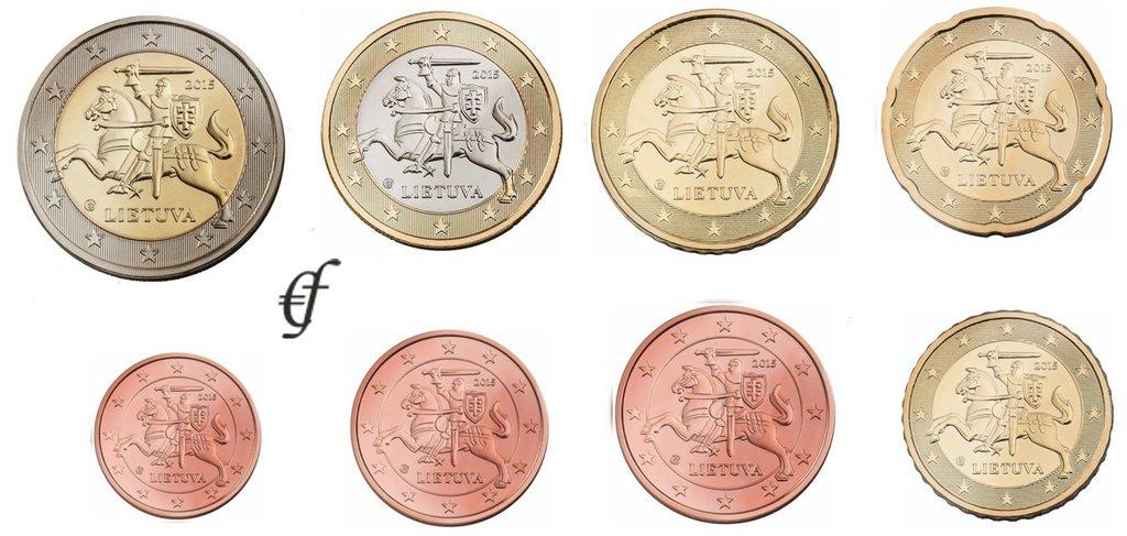 Litauen Alle 8 Münzen 2015 Eurofischer