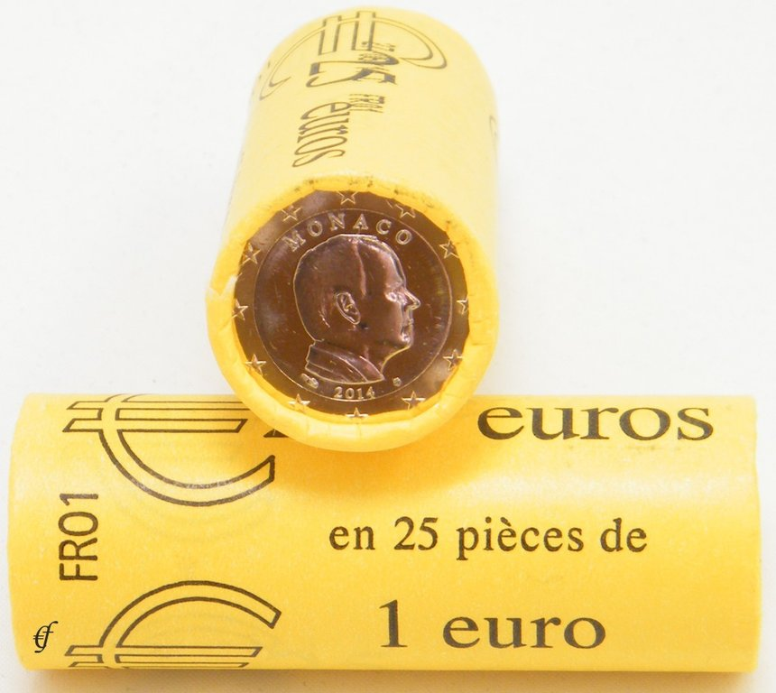 monaco rolle 1 euro 2014 eurofischer. Black Bedroom Furniture Sets. Home Design Ideas