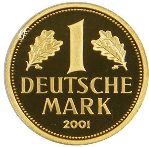deutschland goldmark 2001 g 1 dm gold eurofischer. Black Bedroom Furniture Sets. Home Design Ideas