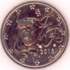 Frankreich 2 Cent 2015 Eurofischer