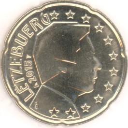 Luxemburg 20 Cent 2015 Eurofischer