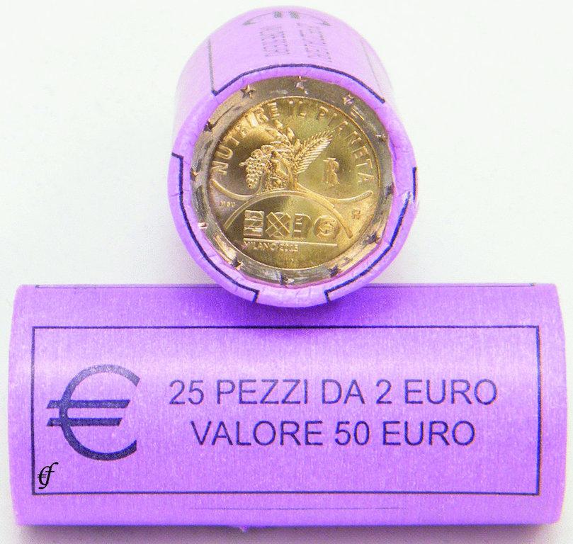 rolle 2 euro gedenkm nzen italien 2015 expo mailand. Black Bedroom Furniture Sets. Home Design Ideas