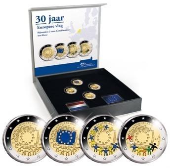 niederlande 4 x 2 euro set 2015 europaflagge pp eurofischer. Black Bedroom Furniture Sets. Home Design Ideas