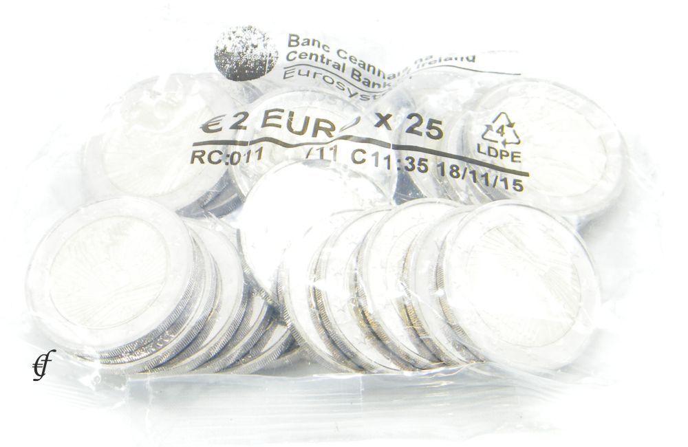 Beutel 2 Euro Gedenkmünzen Irland 2016 Osteraufstand Eurofischer