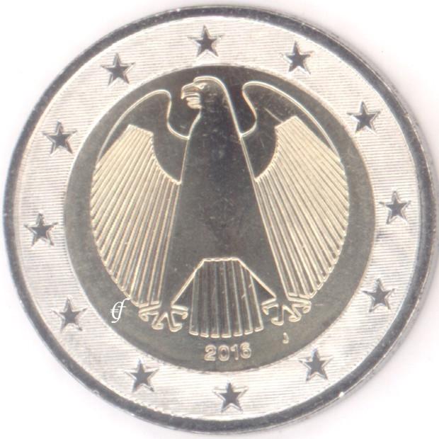 Deutschland 2 Euro J Hamburg 2016 Adler Eurofischer