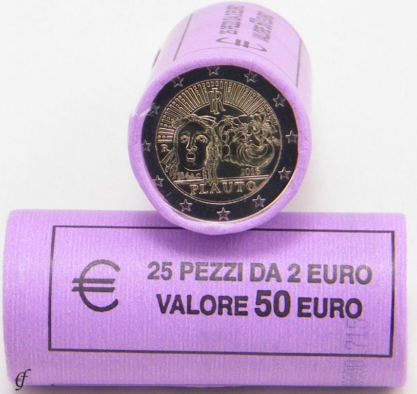 rolle 2 euro gedenkm nzen italien 2016 plauto eurofischer. Black Bedroom Furniture Sets. Home Design Ideas