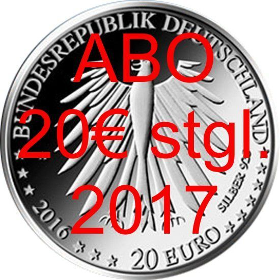 ABO 20€ CC Germany 2017 BU Silver