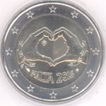 Malta 2 Euro CC 2016 Love with Mint Mark