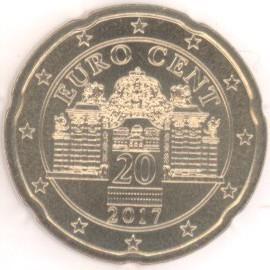 österreich 20 Cent 2017 Eurofischer