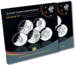 German 20 Euro silver commemorative set 2017 proof