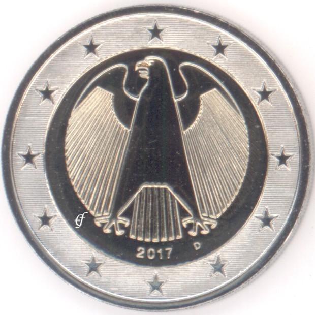 Deutschland 2 Euro D München 2017 Adler Eurofischer
