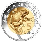 Luxembourg 5 Euro CC 2017 Tree frog proof Presale