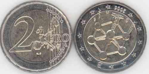 2 Euro Gedenkmünze 2006 Belgien Unc Stempeldrehung Eurofischer