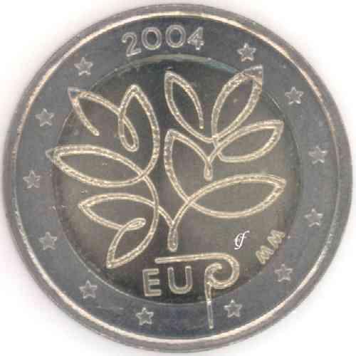 2 Euro Gedenkmünze Finnland 2004 Eu Erweiterung Eurofischer