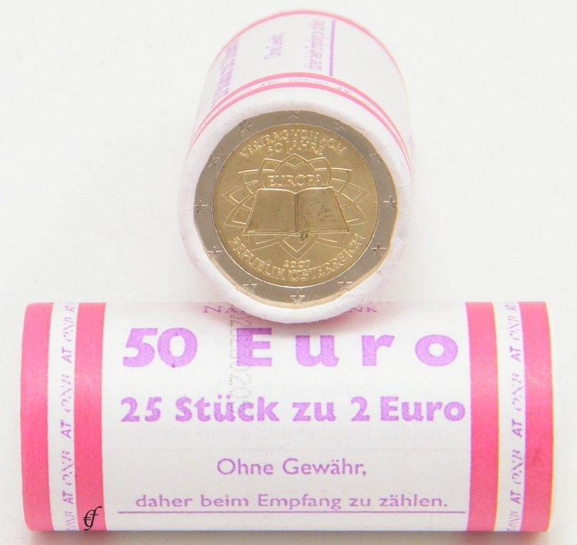 Roll 2 Euro CC Austria 2007 Treaty of Rome