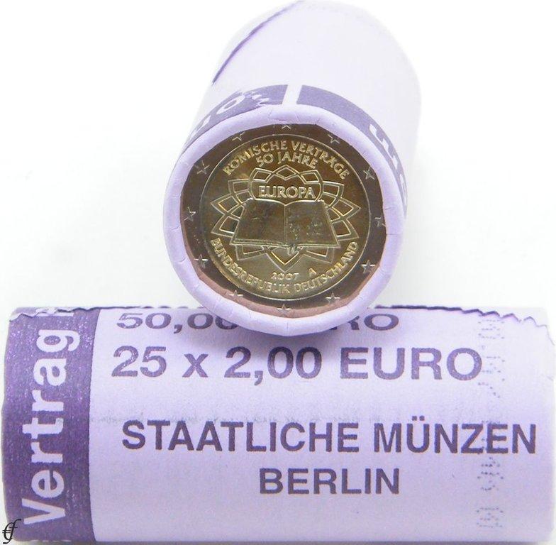 rolle 2 euro gedenkm nzen deutschland 2007 a r mische vertr ge eurofischer. Black Bedroom Furniture Sets. Home Design Ideas