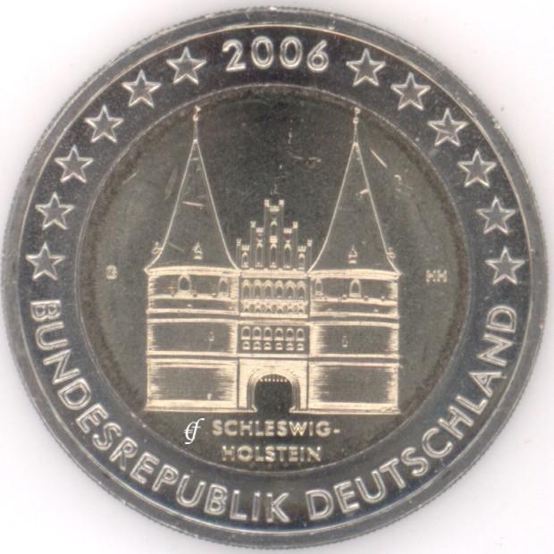 rolle 2 euro gedenkm nzen deutschland 2006 g holstentor eurofischer. Black Bedroom Furniture Sets. Home Design Ideas