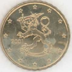 Finnland Rolle 10 Cent 2001 Eurofischer