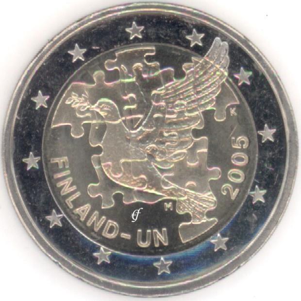 rolle 2 euro gedenkm nzen finnland 2005 un eurofischer. Black Bedroom Furniture Sets. Home Design Ideas