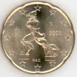 Italien 20 Cent 2002 Eurofischer
