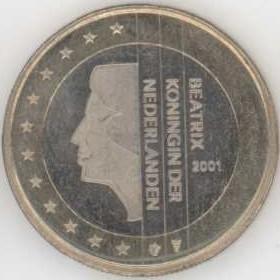 Niederlande 1 Euro 2001 Eurofischer